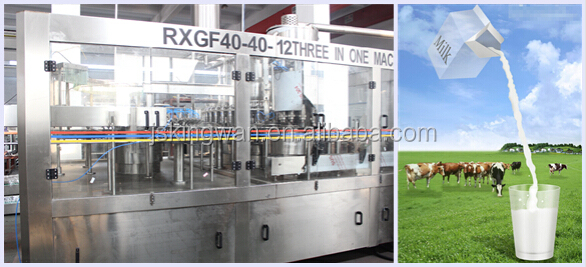 milk capping machine/small scale milk fillings/aseptic liquid filling machine