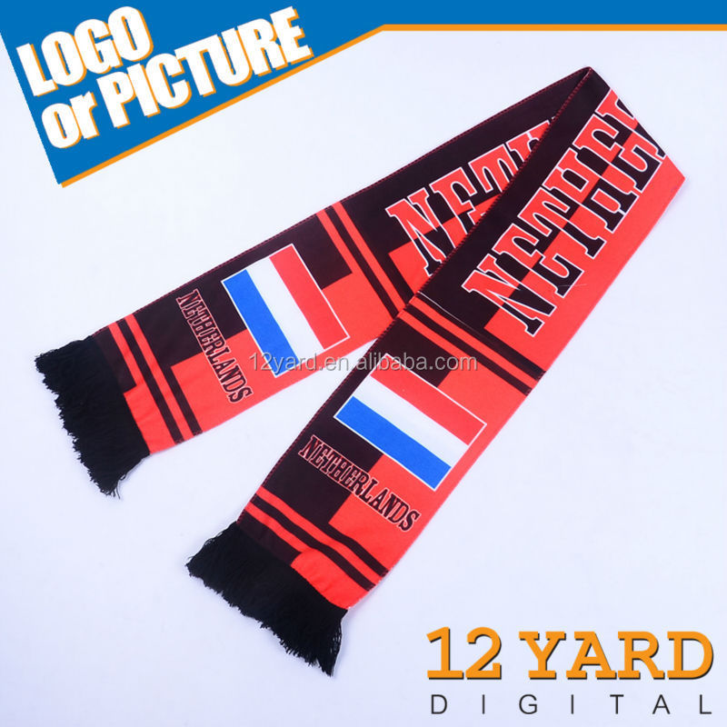 100%polyester with black lace distinctive soccer shawls