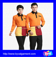 Custom cheap long sleeve with your design uniform polos for company