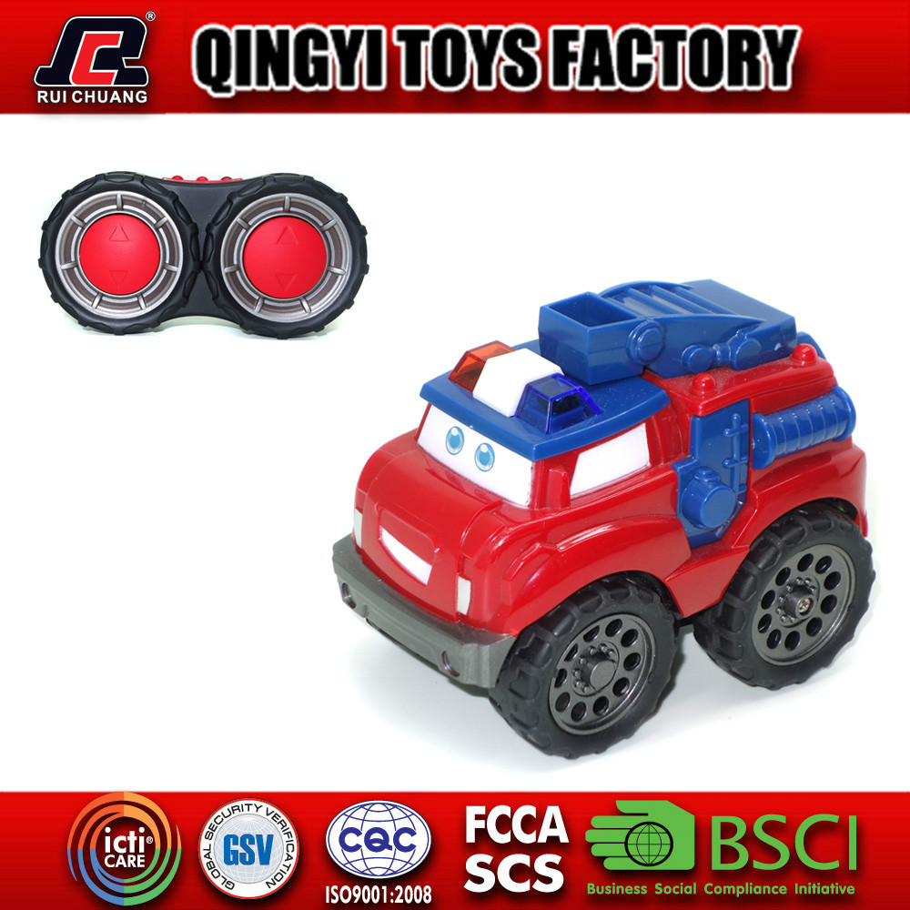 Kids mini lovely cartoon toy car 4 channel rc toy construction car