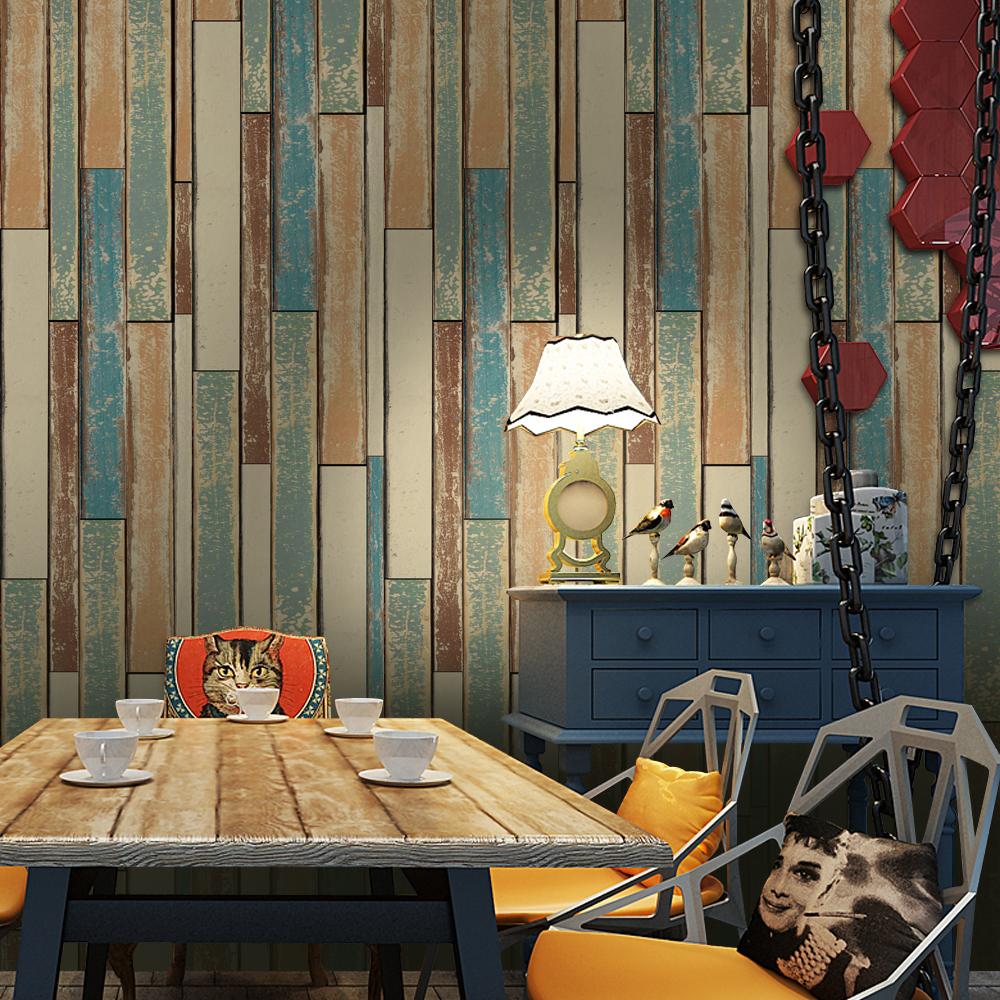 Planche En Bois Deco auto-adhésif imperméable vintage planche de bois salon décoration murale  pvc papier peint - buy papier peint en pvc,papier peint auto-adhésif,papier