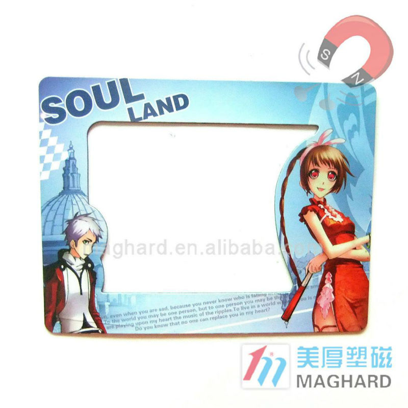 Cartoon Design Magnetic Framed Photo