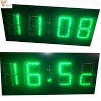 10inch 4digits 8.8.8.8.8 Outdoor 4 numbers 7 segment Gas station/petrol station led price display road signs