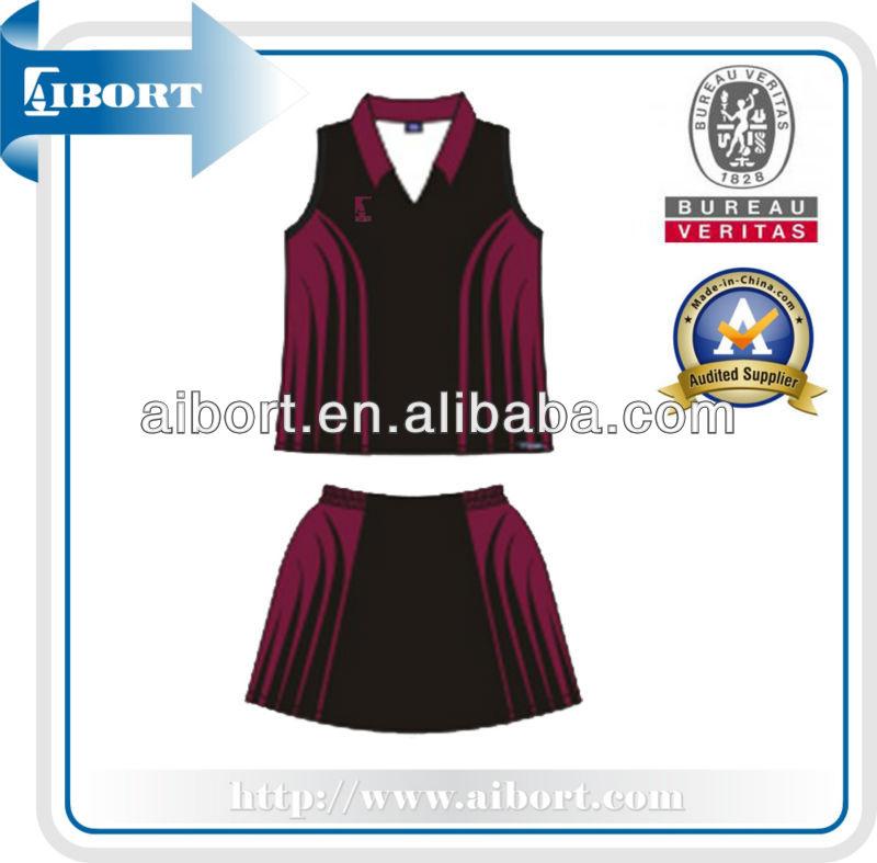 Subnt-563 Dri Fit Netball Skirts/100 Polyester Netball Kit