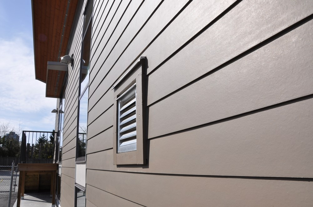 Resistente al fuego decorativo exterior wood house vinyl for Fire resistant house siding material hardboard