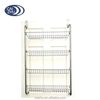 Over The Door Kitchen Cupboard U0026 Pantry Tin Jar Spice Storage Holder Shelf  Rack