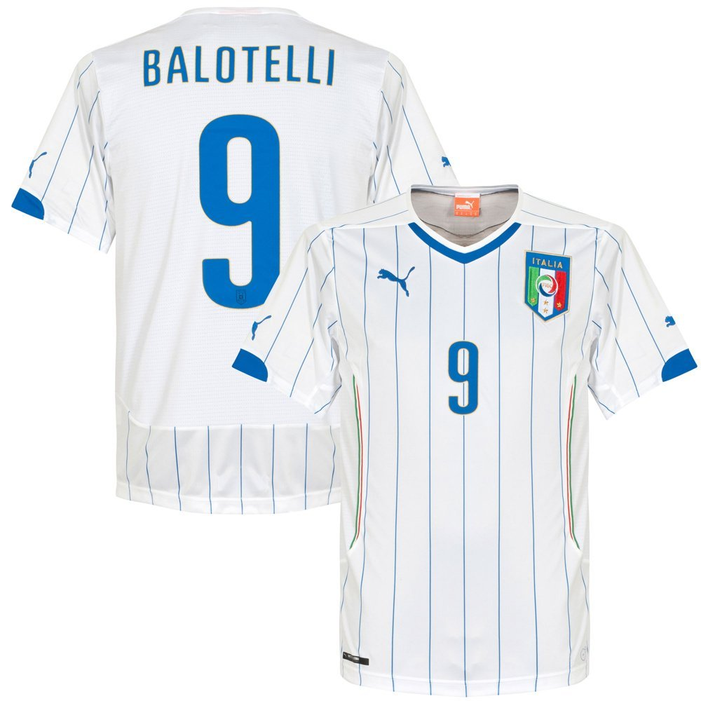 6999fb66b Get Quotations · Italy Away Balotelli Jersey 2014   2015