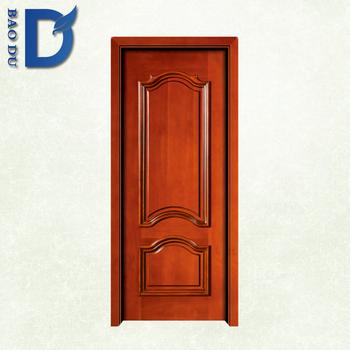Sound Insulation Wooden Door Panels Carved Frame