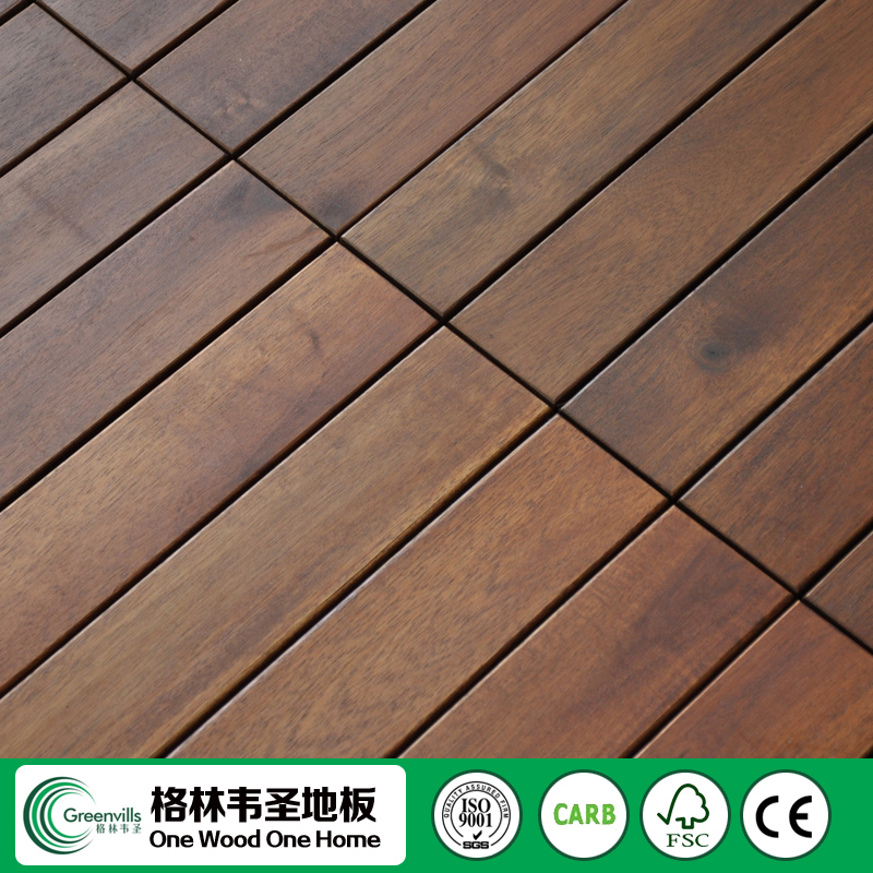 2017 New Acacia Outdoor Deck wood tile <strong>Flooring</strong>
