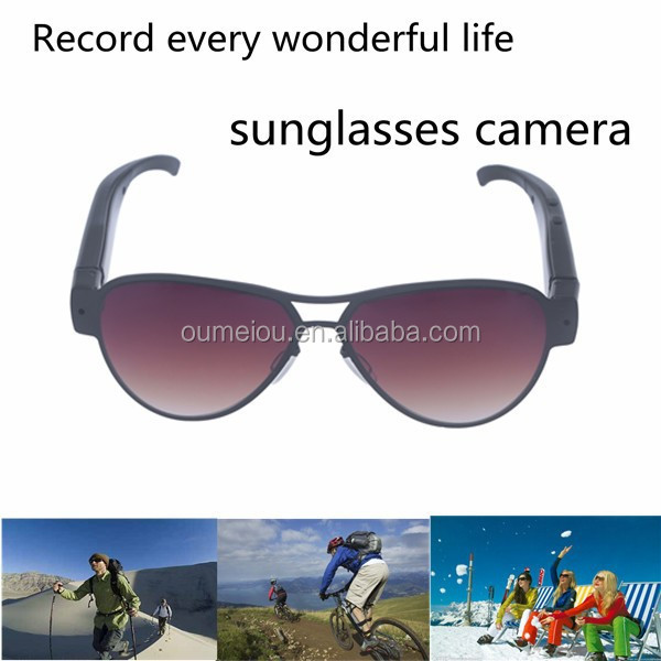latest hidden camera with internal memory sunglasses 1080P for outdoor sports