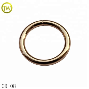 Wholesale gold round buckle metal O ring bag garment buckle for decoration