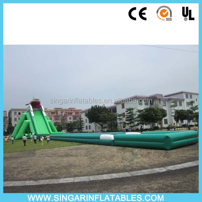 Longest Shake inflatable wild water slide, beach wate slide
