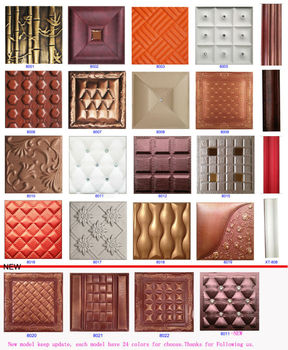 Leather 3d Wall Panel Decoration Decor And Ceiling Decorative ...