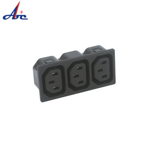 IB-655 Excellent Quality Competitive Price 110V AC Power Socket 3-pin plug socket