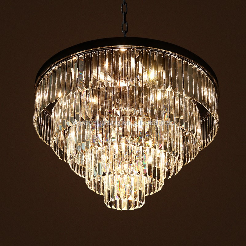 Rounds Led Pendant Lights Modern European Style New Design Crystal Chandelier Square