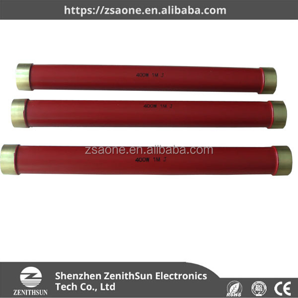 Glazed ceramic tube high Voltage Resistor used in environment equipment