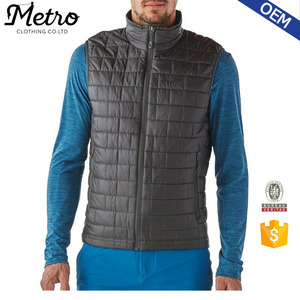 Wholesale Mens Sleeveless Winter Windproof Puff Vest