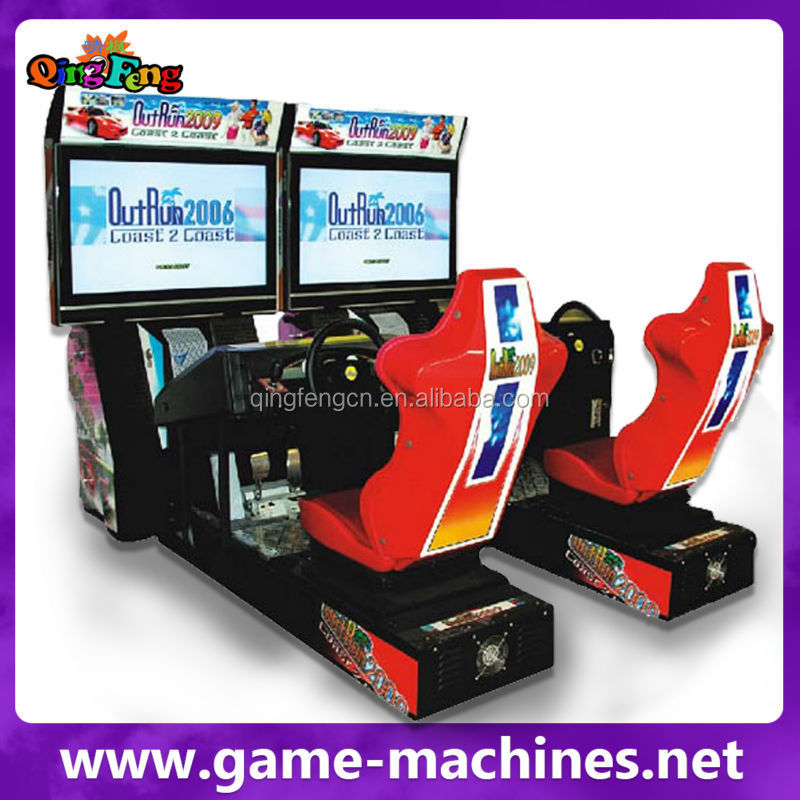 qingfeng coin operated kids car games indoor play area convoy race play car racing games for