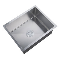 Factory wholesale cheap price 201 SS stainless steel basin 6045 kitchen sink for Indian market