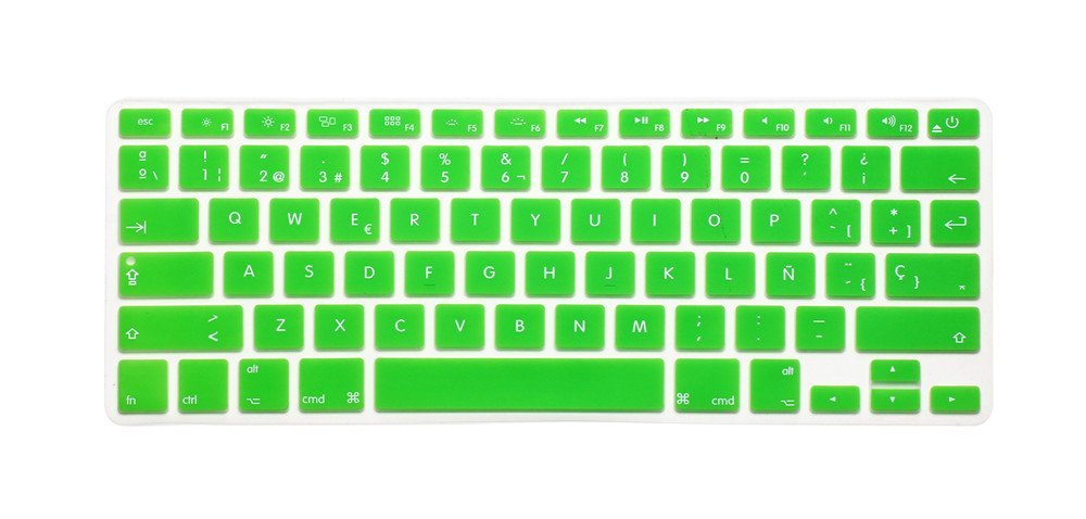 cc5bb1f16b6 Get Quotations · Spanish / English Keyboard Cover, HQF® Notebook Silicone *Spanish  Keyboard Skin* Protection