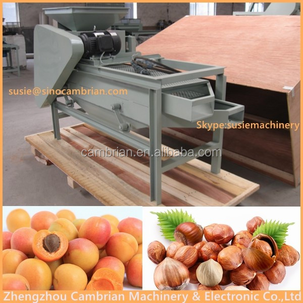 High quality apricot shelling cracking machine almond cutter machine