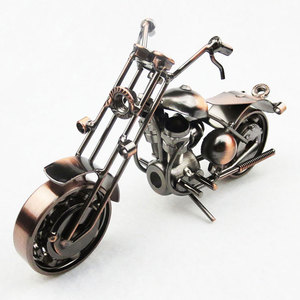 Pure Handmade Iron Motorcycle Model Metal Art Motor Ornaments Antique Motorbike Model Best Home Office Bar KTV Decor