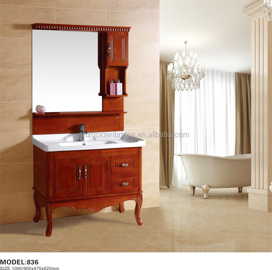 montado en el piso de madera maciza de roble mueble de bao clsico europeo