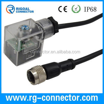 Din Type B Led With M12 4 Pin Molding Cable