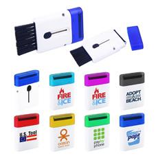 OEM Unterstützung Top Sales 2 In 1 Plastiktasche Netter Smartphone Pad Bildschirmreiniger Mit Mini Computer Tastatur Pinsel Für Förderung