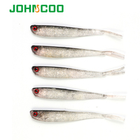 JOHNCOO 10cm 4g Soft Bait Fish Fishing Lure Shad 3D Eyes Soft Silicone Bait Swimbaits Plastic Lure Pasca