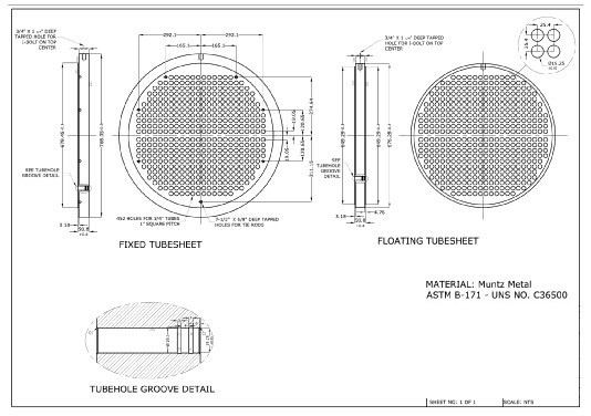Custom Tube Sheet For Pressure Vessel With Bv ...