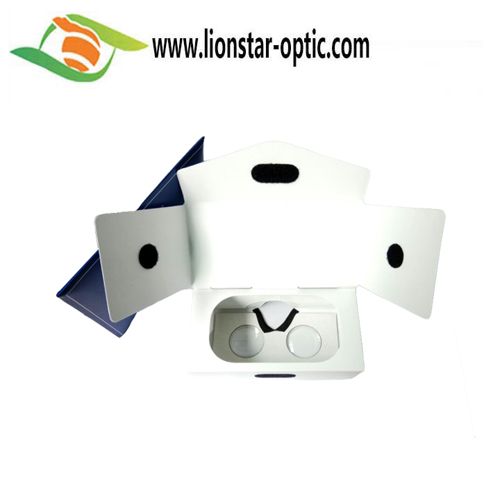42MM PMMA Lenses Cardboard VR  Glasses , Flatly Folded into Equipped Envelope Google VR Headsets Video Glasses