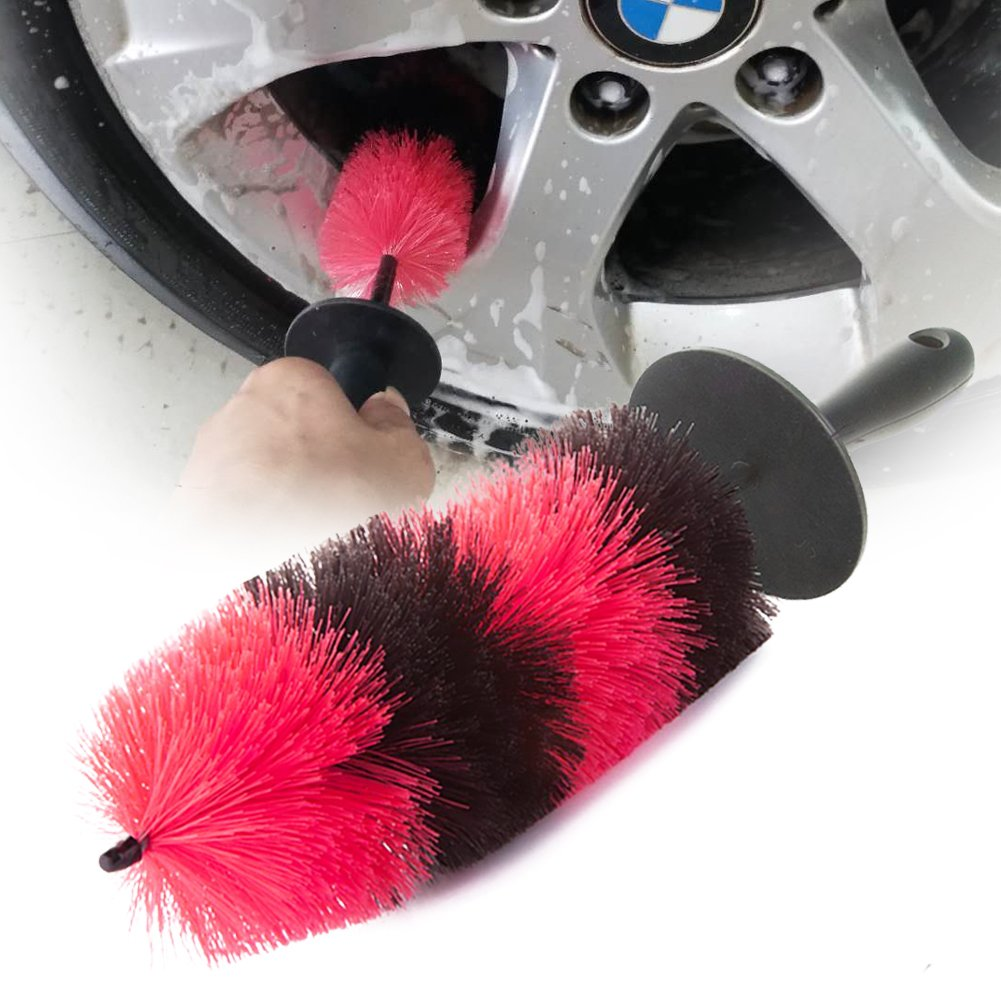 Wheel Brush Long Soft Car Wheel Brush Rim Tire Brush Multipurpose Use for Cars Motorcycles Bicycles Brushes & Dusters