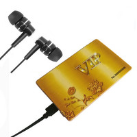 Name VIP credit card digital voice recorder with playback function