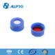 9-425 blue cap wth bonded cap Red PTFE/White silicone septa pre-slit for hplc vials