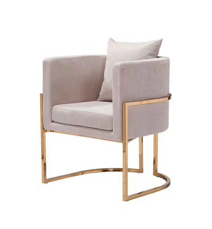 Stylish design furniture stainless steel frame pink velvet brass Luxury julius <strong>chair</strong>