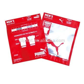 095737e52d Zipper Cloth Sock T Shirt Garment Packaging Ziplock Garment Plastic Bag For  T-Shirt