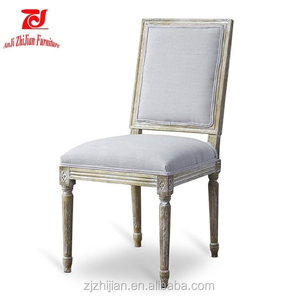White Louis Arm Chair Solid Wood Arm Chair Home Arm