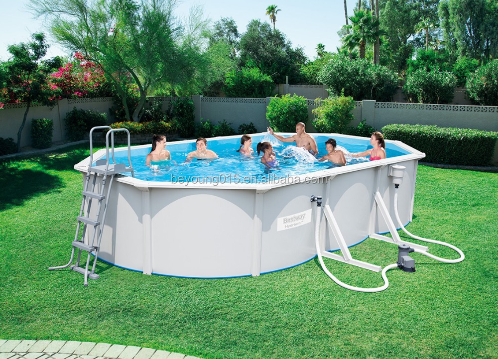 12ft X48in Hydrium Ovale Form Stahl Wand Pool Verkauf,Bestway Stahl ...