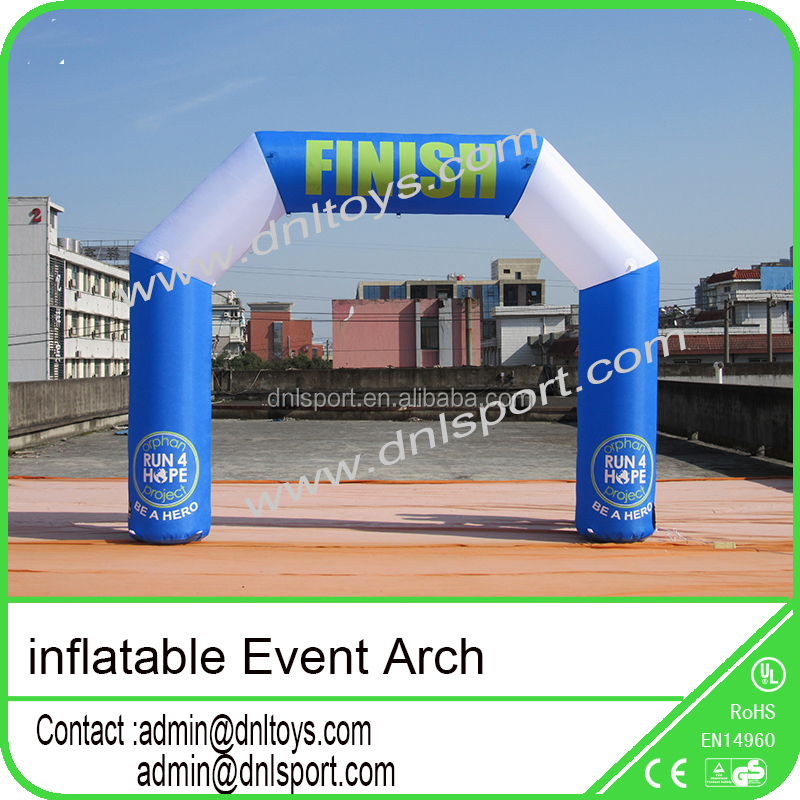 <strong>Inflatable</strong> promotional / start finish line arch