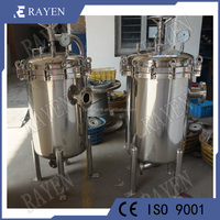 stainless steel industrial water filter chemical filter housing
