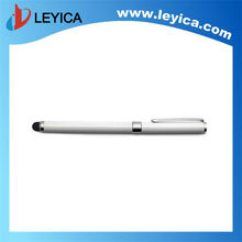 Silver black white three color elegant metal roller pen with stylus tip , promotional items - LY-S06