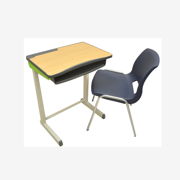 High Quality HPL (High Pressure Laminate) Plastic injection edge-banding desktop with PP chair for school furniture