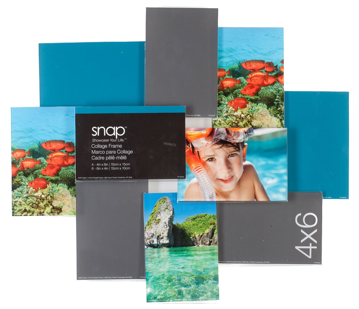 0828c6aa8e1 Snap Clear 3D Collage Frame