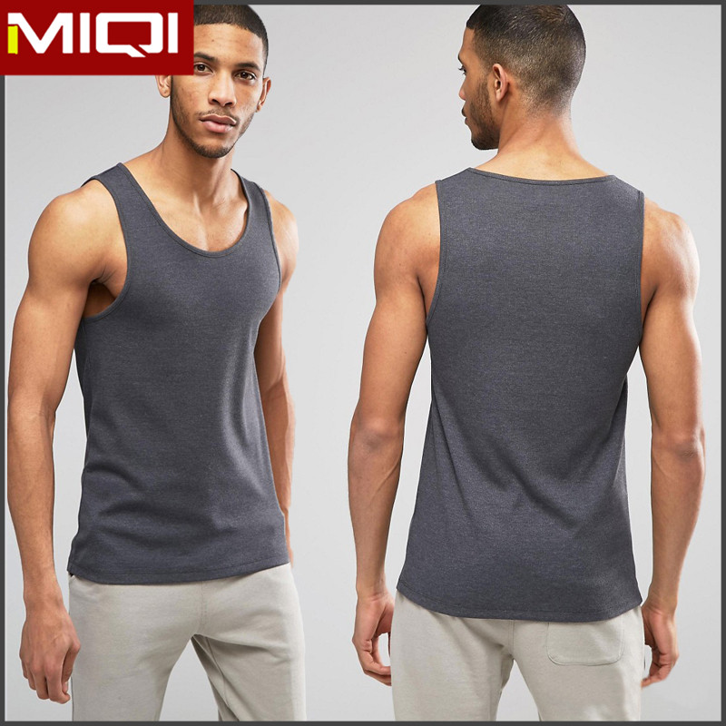Hot selling spandex gym wear custom fitness wear vest shirt for men