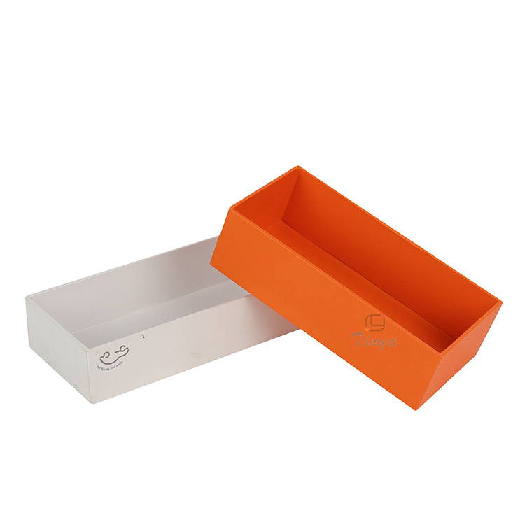 orange custom packaging cardboard box printed