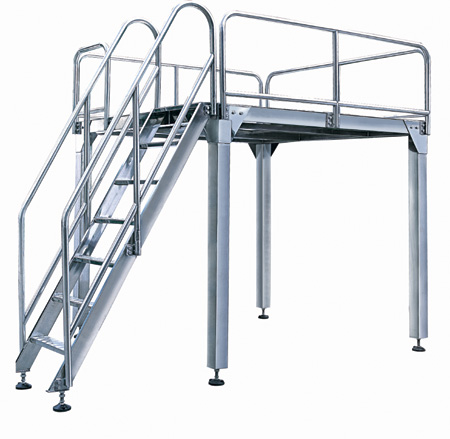 304 stainless steel Aerial Work Platform used in food industry