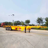 40Ft Container Chassis Semi Trailer 2axle Skeleton Semi Trailer / Container Chassis For Sale