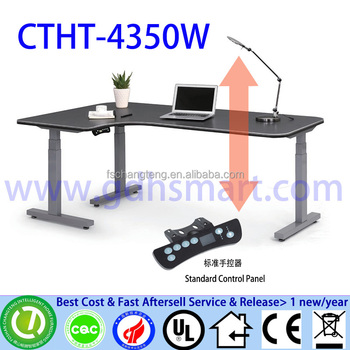 High Tech Office Table Height Adjule Executive Ceo Desk Luxury