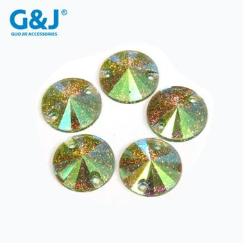 High quality flatback W16 Light green and Factory direct sale resin stone
